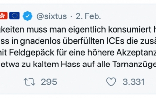 Hate-Speech: Tweet von Mario Sixtus mit Hass auf die Bundeswehr