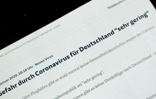 Überschrift in der Süddeutschen: Corona-Gefahr gering