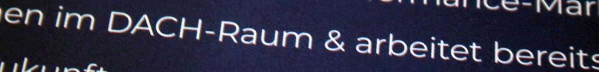 """Text mit kaufmännischem Und anstelle des Wortes """"und"""""""
