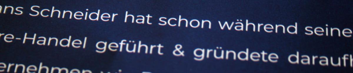 """Text, in dem statt des Wortes """"und"""" ein kaufmännisches Und steht"""